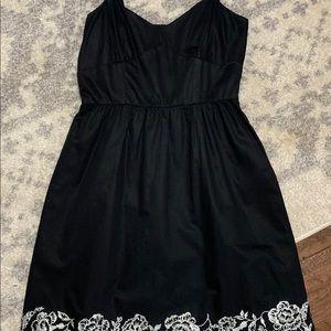 Ann Taylor Loft Petites Black & White summer dress